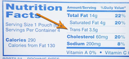 Trans fat nutrition facts